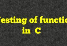 Nesting of Function in C