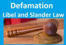 Defamation - Libel and Slander Law