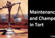 Maintenance and Champerty in Tort