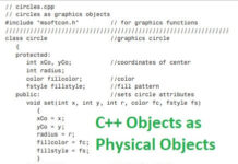 C++ Objects as Physical Objects