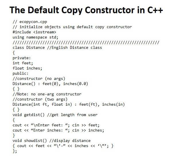 The Default Copy Constructor in C++