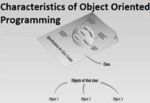 characteristics of object oriented programming